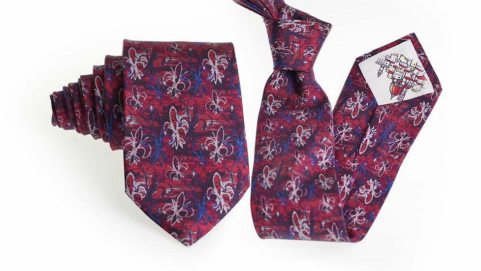 Cravatta seta Gigli | Rosso