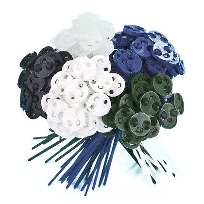 Colors 65 pcs = 25 Neutral + 20 Black + 10 White + 5 ArmyGreen + 5 NavyBlue