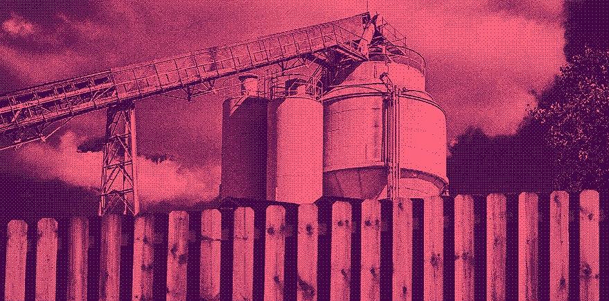 Concrete batch plant backyard halftone.j