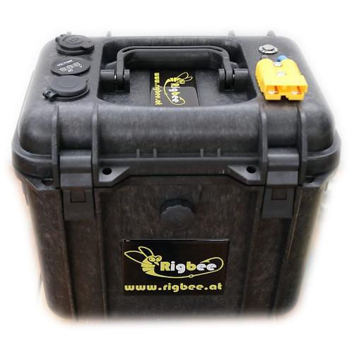 Rigbee Lithium LiFePo4 MaxBeePower mit Akkubox und Ladegerät