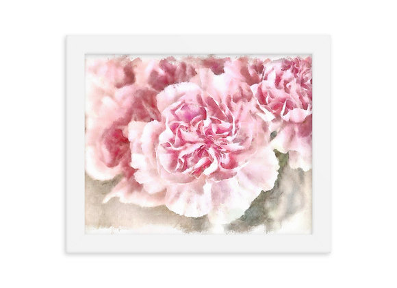 Abstract Watercolor Flowers Framed poster