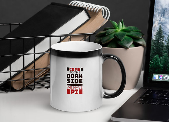 Math Geek Gift  Come to the Dork Side We Have Pi Glossy Magic Mug