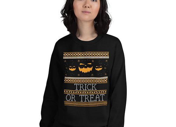 Trick or Treat Ugly Halloween Sweater Unisex Sweatshirt