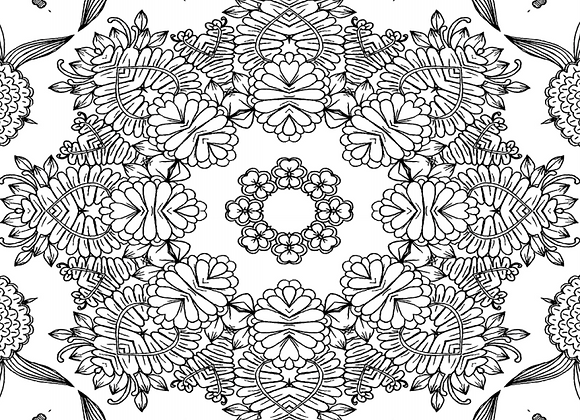 Flowers Coloring Mandalas for Adults