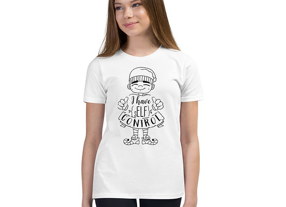 I have Elf Control Christmas Youth Short Sleeve T-Shirt