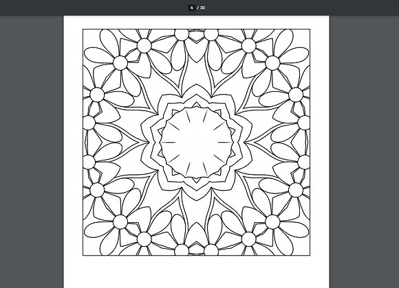 Adult Coloring Pages - Flowers - 30 Printable Coloring Pages