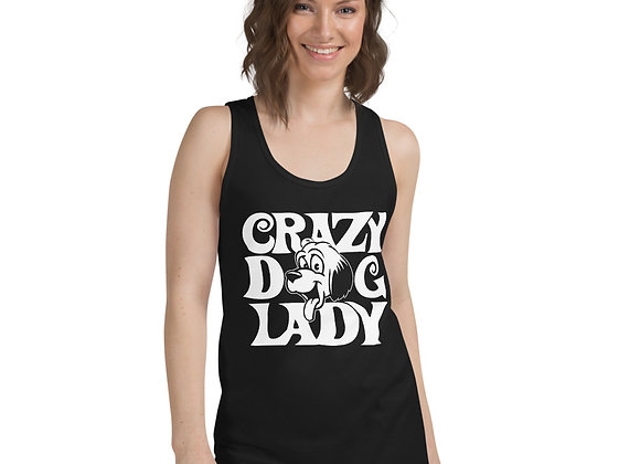 Funny Crazy Dog Lady Dog Lover Classic tank top (unisex)
