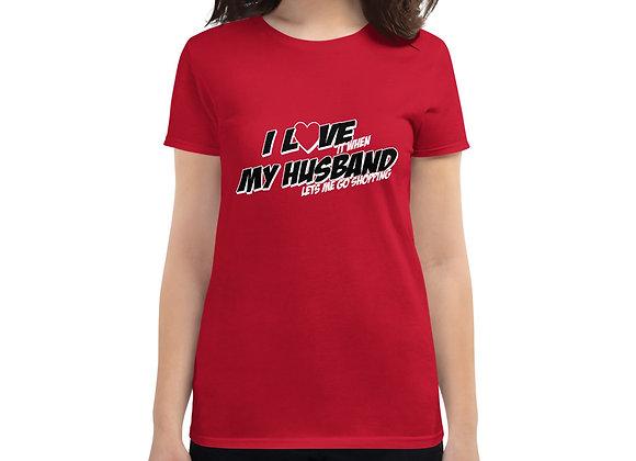 I Love My Husband Women's short sleeve t-shirt
