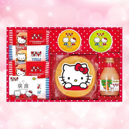 【内祝】ハローキティ りんごジュース&スイーツセット