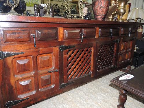 Balcão Buffet Antigo,4 Portas 4 Gavetas, madeira.