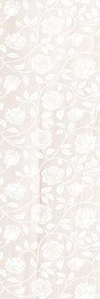 1064-0039  TENDER MARBLE декор цветы 20х60 бежевый  763 руб кв м