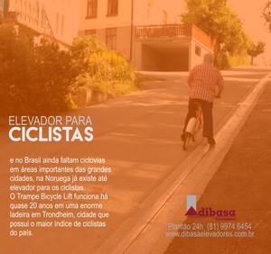 Elevador para ciclistas.