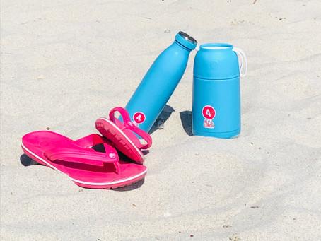 Sonne, Strand & gekühlter Obstsalat mit All4Lunch