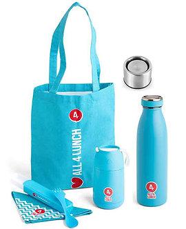 All4Lunch Set 650 ml und Isolierflasche & (Klickverschluss gratis)