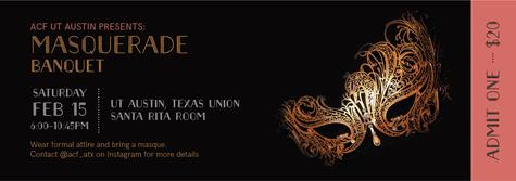 Masquerade banquet tickets