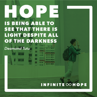 infinite hope - square quote post 2