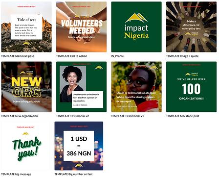 impact nigeria Instagram templates