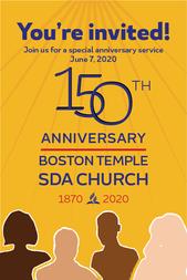 Boston Temple 150th invitation