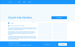 desktop org page wireframe