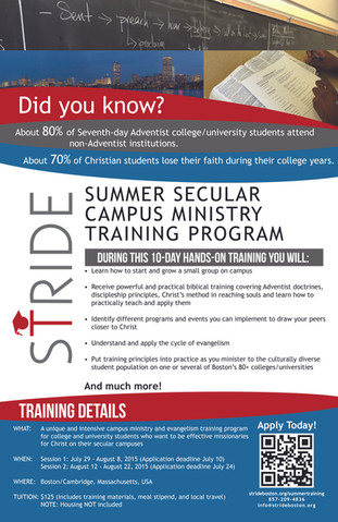STRIDE Campus Ministry Training