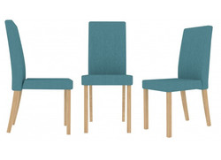 Anna dining chairs in Teal