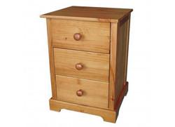 Baltic 3 Drawer Bedside Cabinet