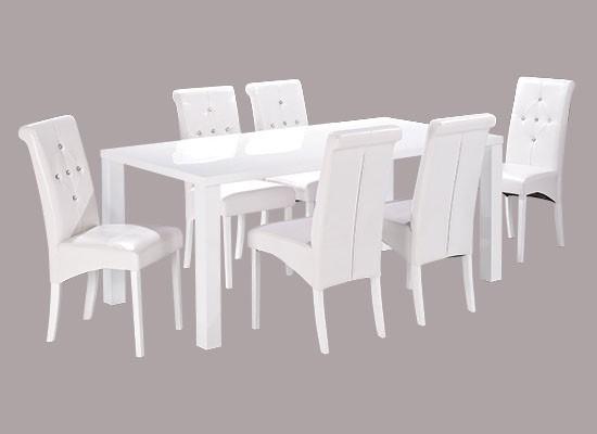 Monroe Large Dining Table - White