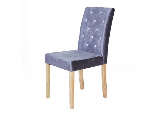 Paris Silver Velvet Chair
