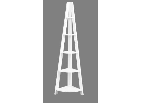 Tiva Ladder Corner Shelving in White