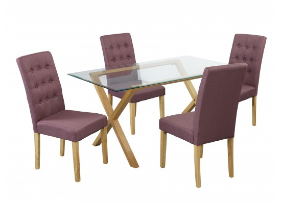 Cadiz Table & Roma Plum Chairs