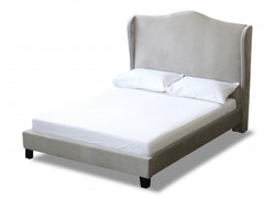 Chateaux Wing Bed – Double Silver