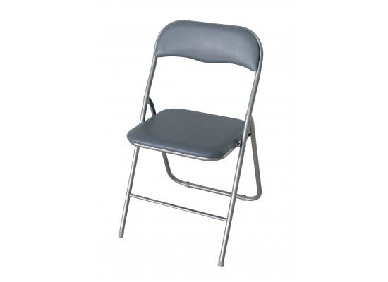 Folding desk Chair Silver