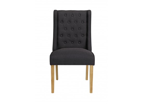 Verona Wing Chair – Charcoal