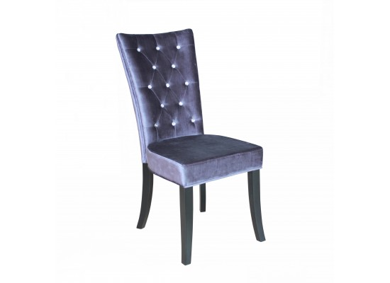 Radiance Silver Velvet Chair