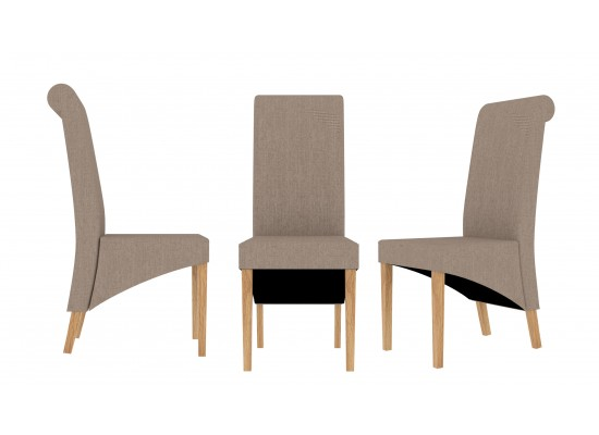Amelia dining chairs in Beige