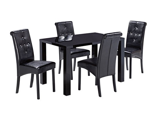 Monroe Medium Dining Table – Black
