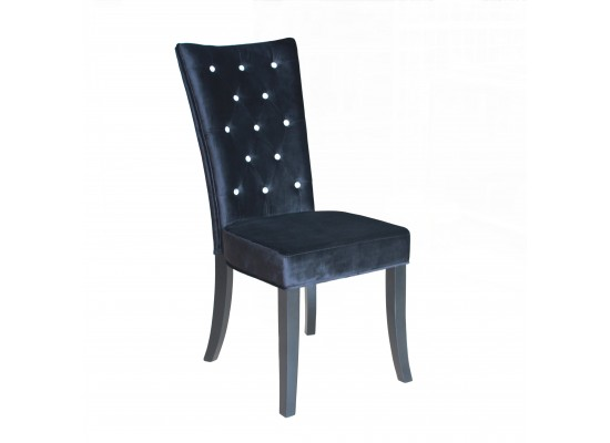 Radiance Black Velvet Chair