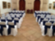 Colwick Hall Marquee transformed by Seats and Sashes
