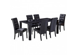Monroe Large Dining Table - Black