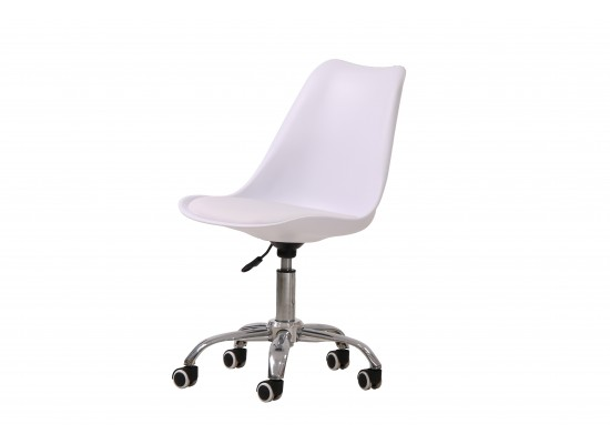 Orsen swivel office chair in White