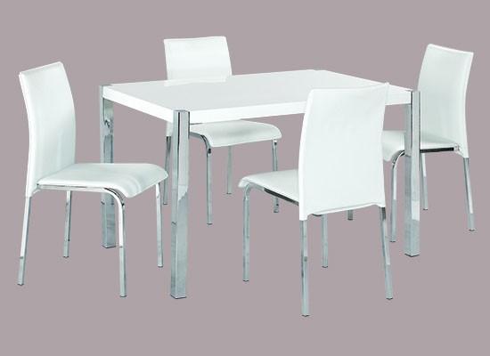 Novello Dining Set – White
