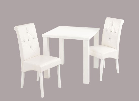 Monroe Small Dining Table - White