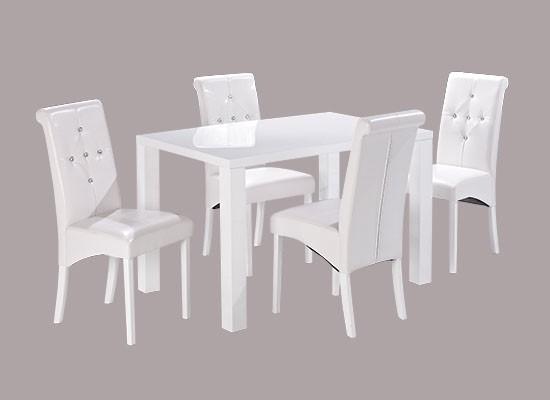 Monroe Medium Dining Table – White