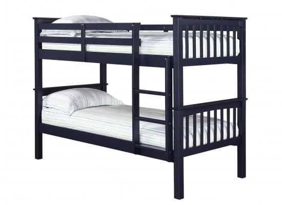 Leo Bunk Bed – Solid Navy Blue