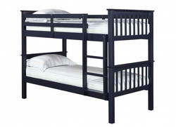 Leo Bunk Bed – Solid Navy Blue