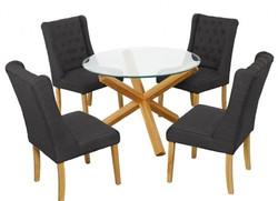 Verona Wing Chair – Charcoal