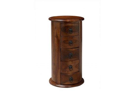 Darjeeling 5 Drawer Round Chest