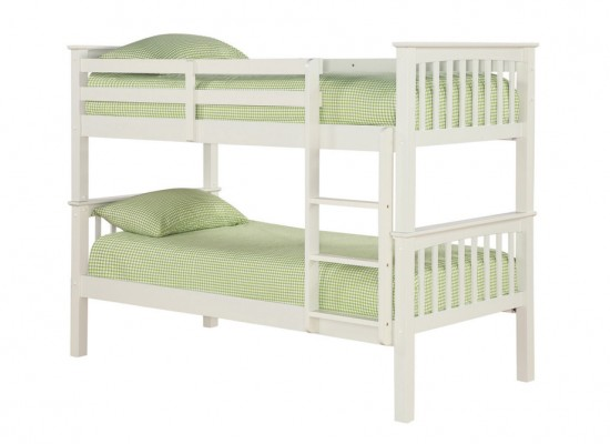 Leo Bunk Bed – Solid Off White