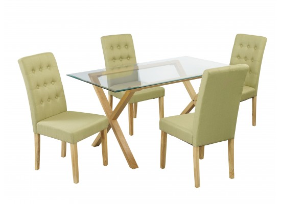 Cadiz Table & Roma Green Chairs