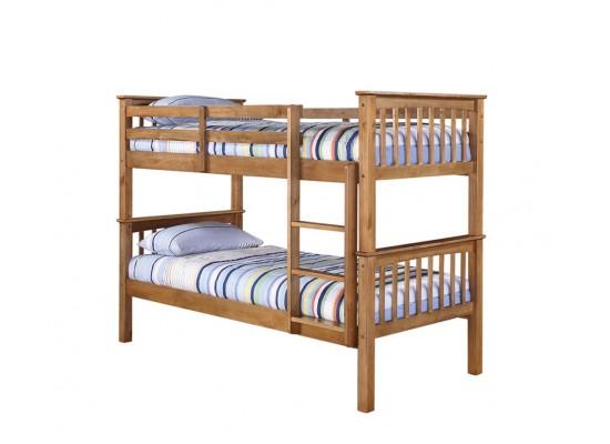 Leo Bunk Bed – Antique Wax Pine